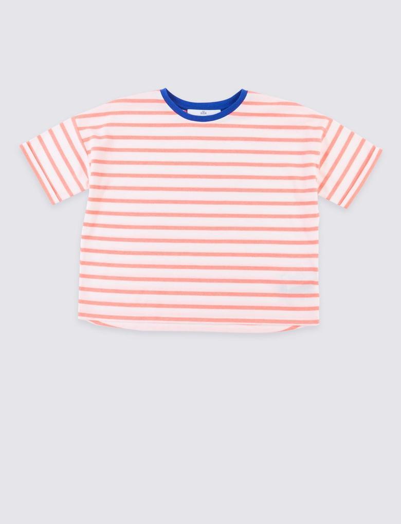 Kırmızı Çizgili T-Shirt