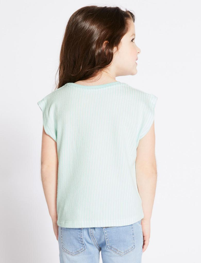 Saf Pamuklu Hooray Çizgili T-Shirt