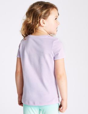 Saf Pamuklu Unicorn Desenli T-Shirt