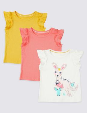 3'lü Saf Pamuklu T-Shirt Seti