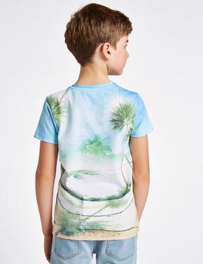 Pamuklu Gorilla Desenli T-Shirt