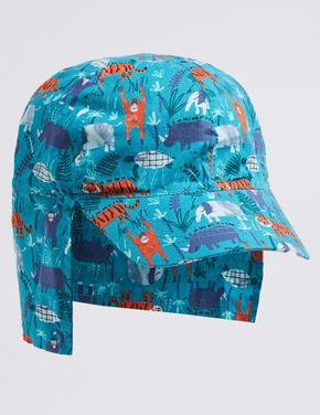 Saf Pamuklu Çocuk Şapkası