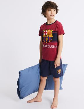 FC Barcelona Şort Pijama Takımı