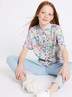 Palmiye Desenli Gömlek