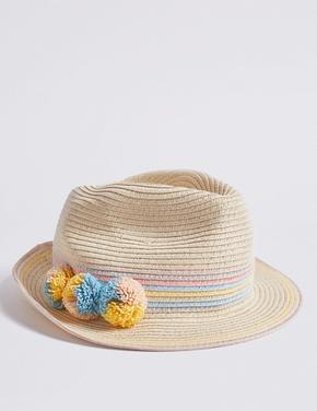 Kız Çocuk Multi Renk UPF50 Korumalı Fötr Şapka
