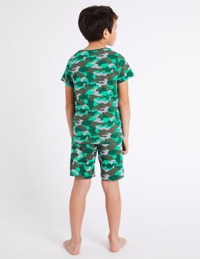 Pamuklu Streç Şort Pijama Takımı