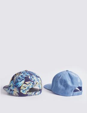 Erkek Çocuk Multi Renk 2'li UPF50 Korumalı Şapka