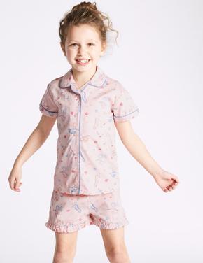 Saf Pamuklu Şort Pijama Takımı