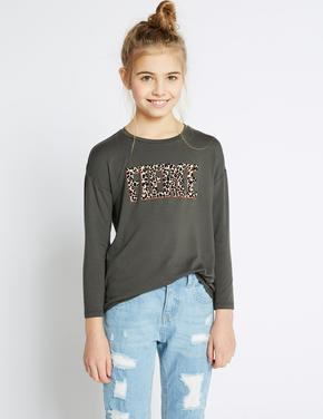 Fierce Desenli Uzun Kollu T-Shirt (StayNEW™ Teknolojisi ile)