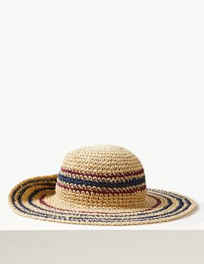 Çizgili Hasır Şapka