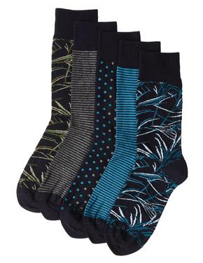 5'li Cool & Freshfeet™ Pamuklu Çorap Seti