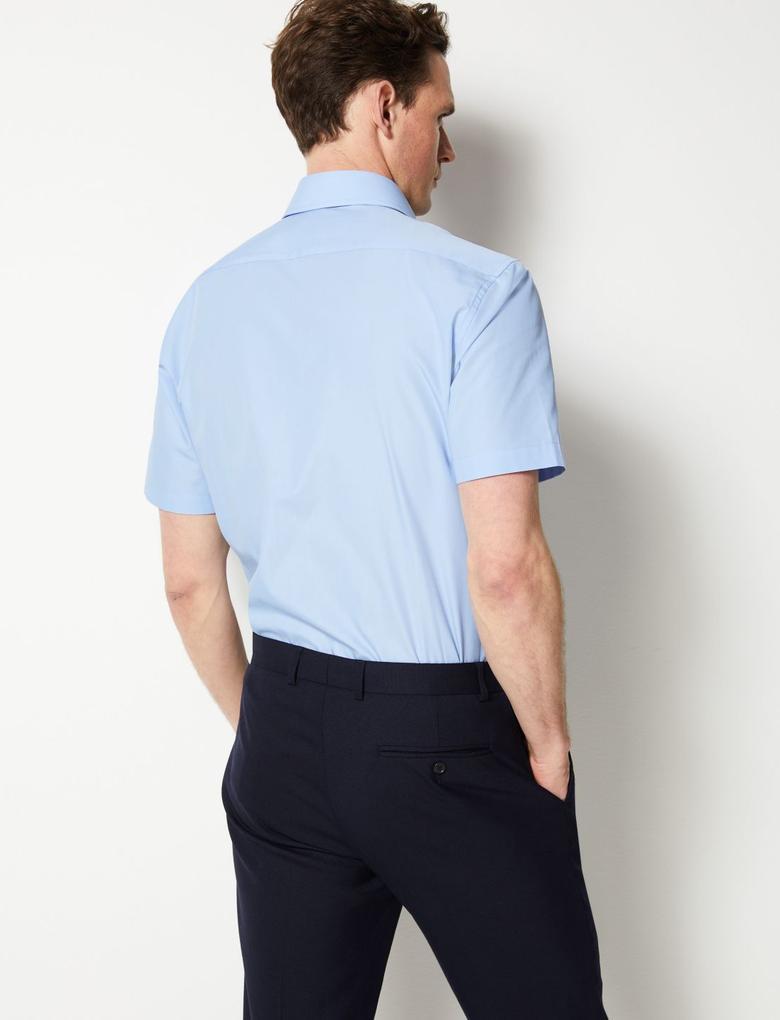 3'lü Pamuklu Tailored Fit Gömlek Seti