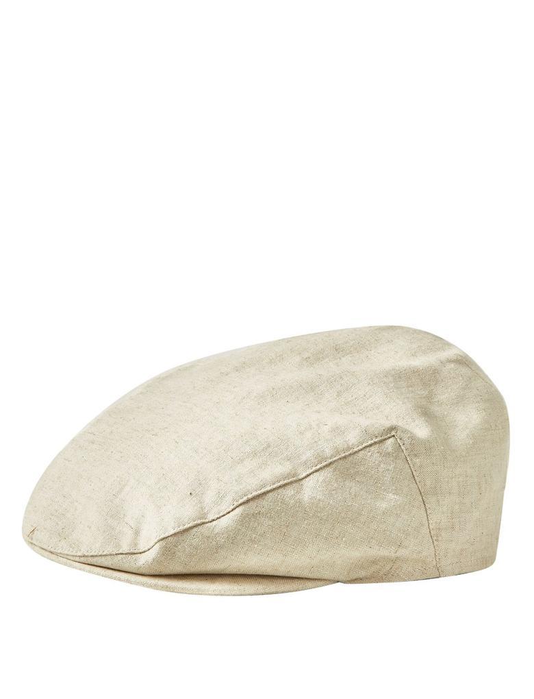 Erkek Krem Keten Şapka