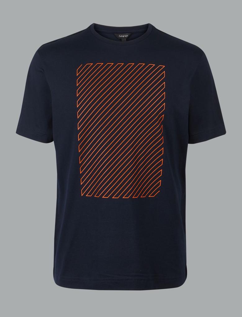 Supima® Pamuklu Desenli T-Shirt