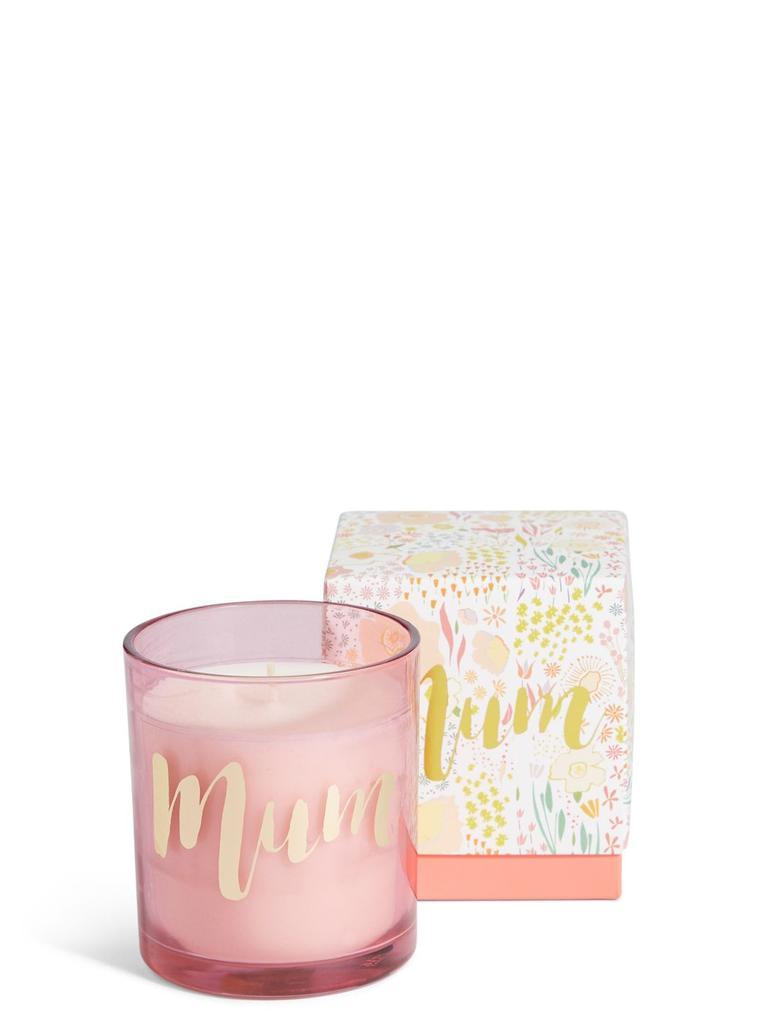 """""""Mum"""" Yazılı Çiçek Kokulu Mum"""