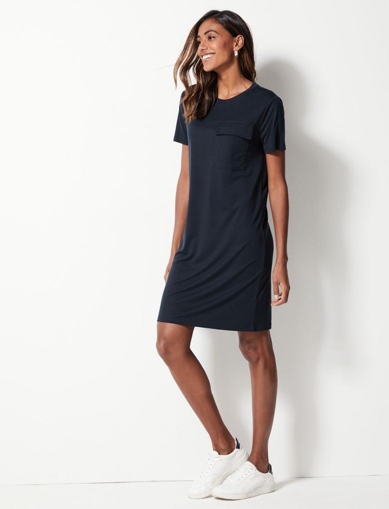 Kısa Kollu T-Shirt Elbise