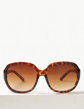 Kadın Kahverengi Oval Güneş Gözlüğü