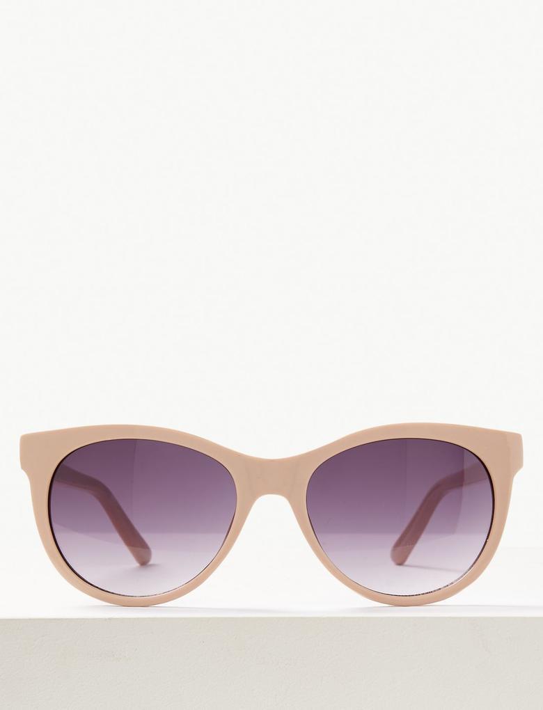Kadın Bej Oval Güneş Gözlüğü