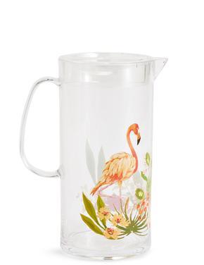 Sun-baked Flamingo Desenli Sürahi