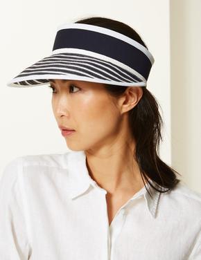 Tenis Şapkası Modelinde Hasır Şapka