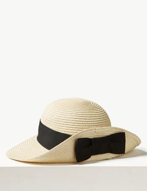 Fiyonklu Hasır Şapka
