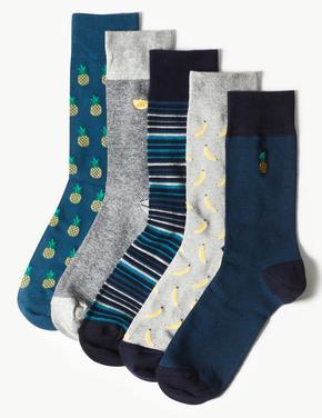 5'li Pamuklu Cool & Freshfeet™ Çorap Seti