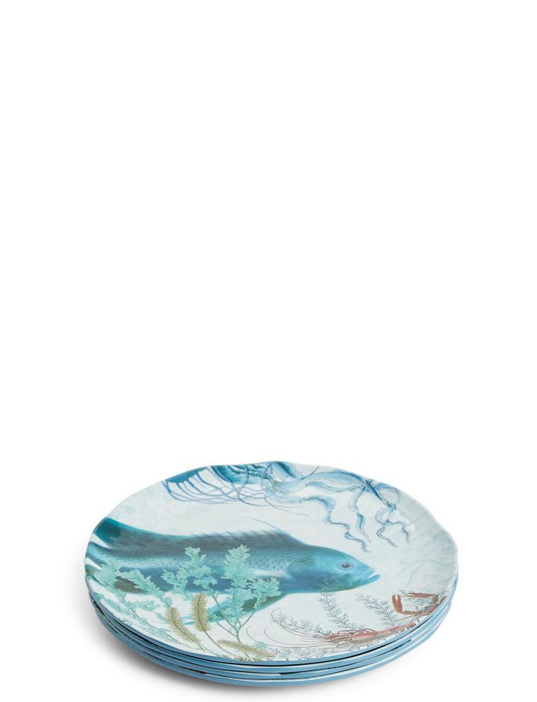 Mavi Nautical 4'lü Tabak Seti