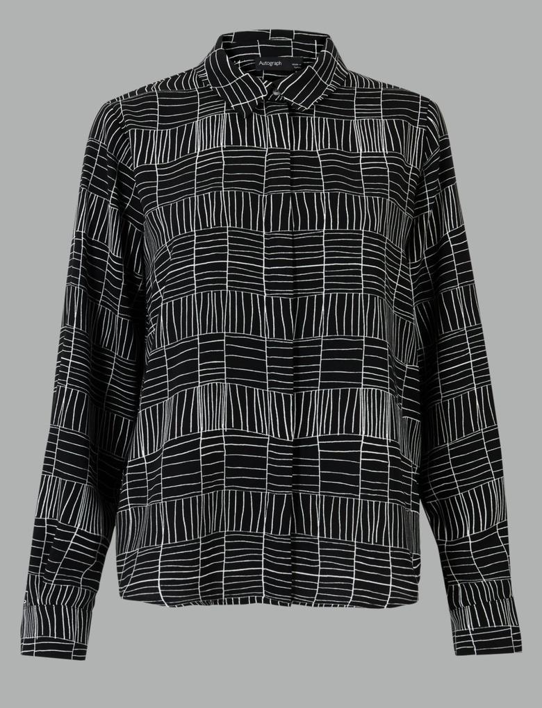 Siyah Desenli Gömlek
