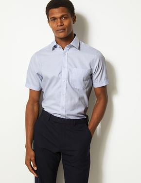 Saf Pamuklu Ütü Gerektirmeyen Slim Fit Gömlek