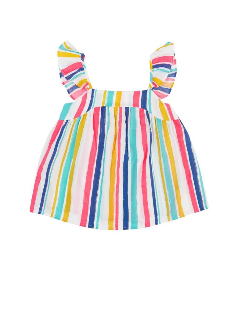 Kız Çocuk Beyaz Renkli Çizgili Bluz