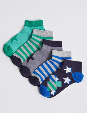 "5 Pairs of Trainer Liner Socks with Freshfeetâ""¢"