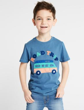 3'lü Pamuklu T-shirt Seti