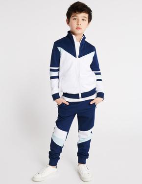 Erkek Çocuk Multi Renk Pamuklu Trico Eşofman Altı