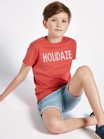 """Saf Pamuklu """"Holidaze"""" Baskılı T-shirt"""
