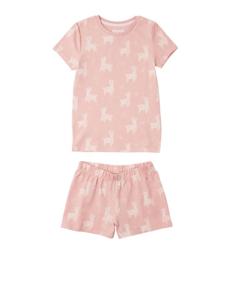 Lama Desenli Şortlu Pijama Takımı