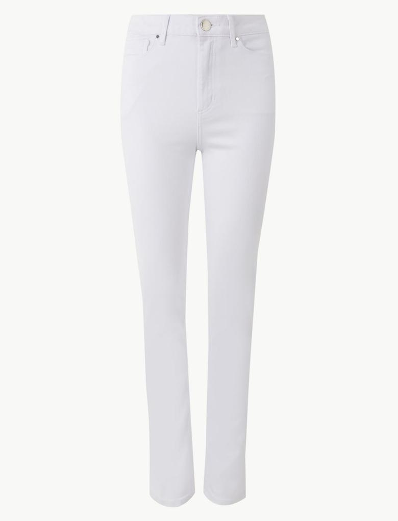 Kadın Beyaz Sculpt & Lift Slim Fit Jean Pantolon
