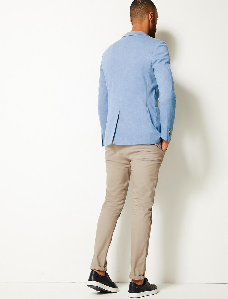 Pamuklu Slim Fit Ceket