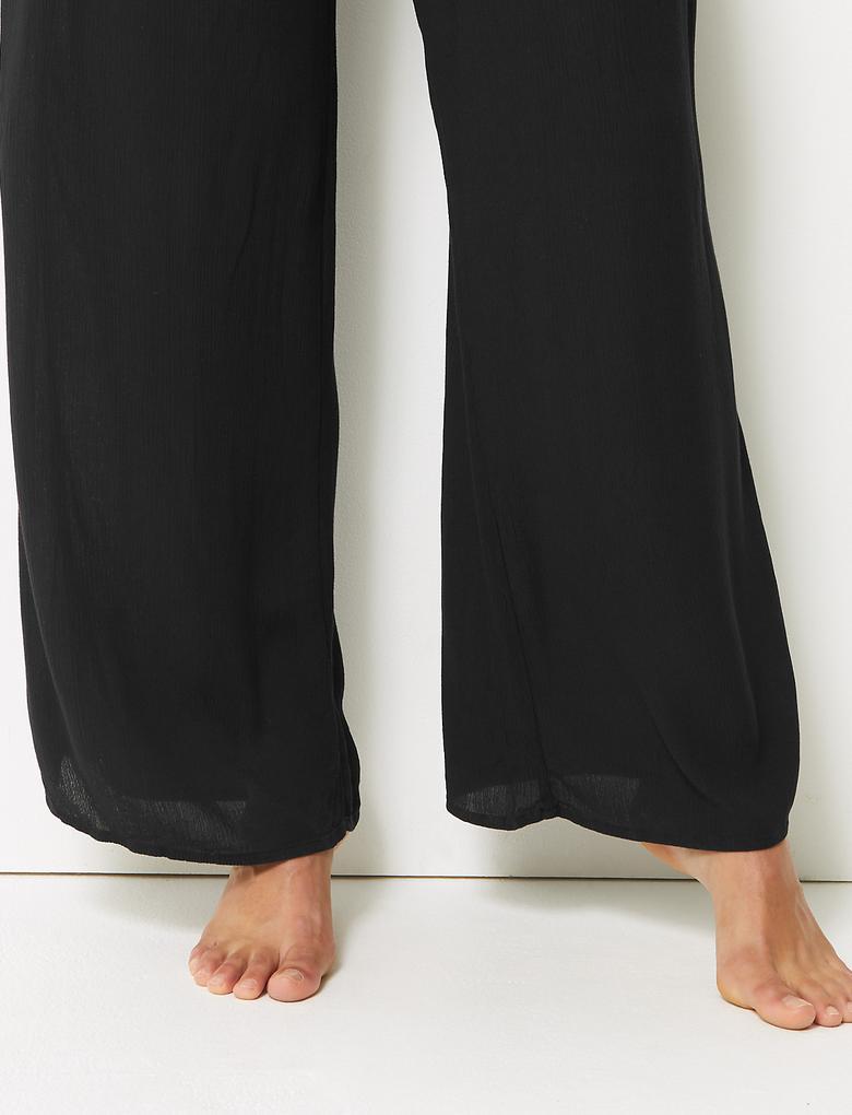 Wide Leg Plaj Pantolonu