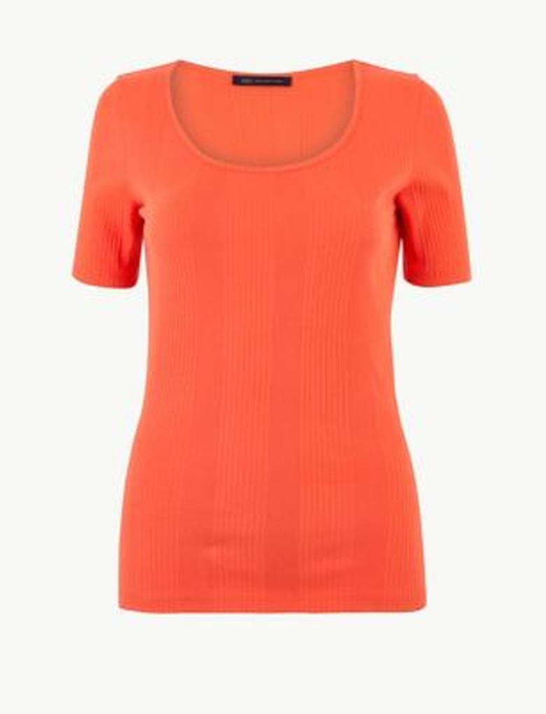 Saf Pamuklu Kısa Kollu T-Shirt