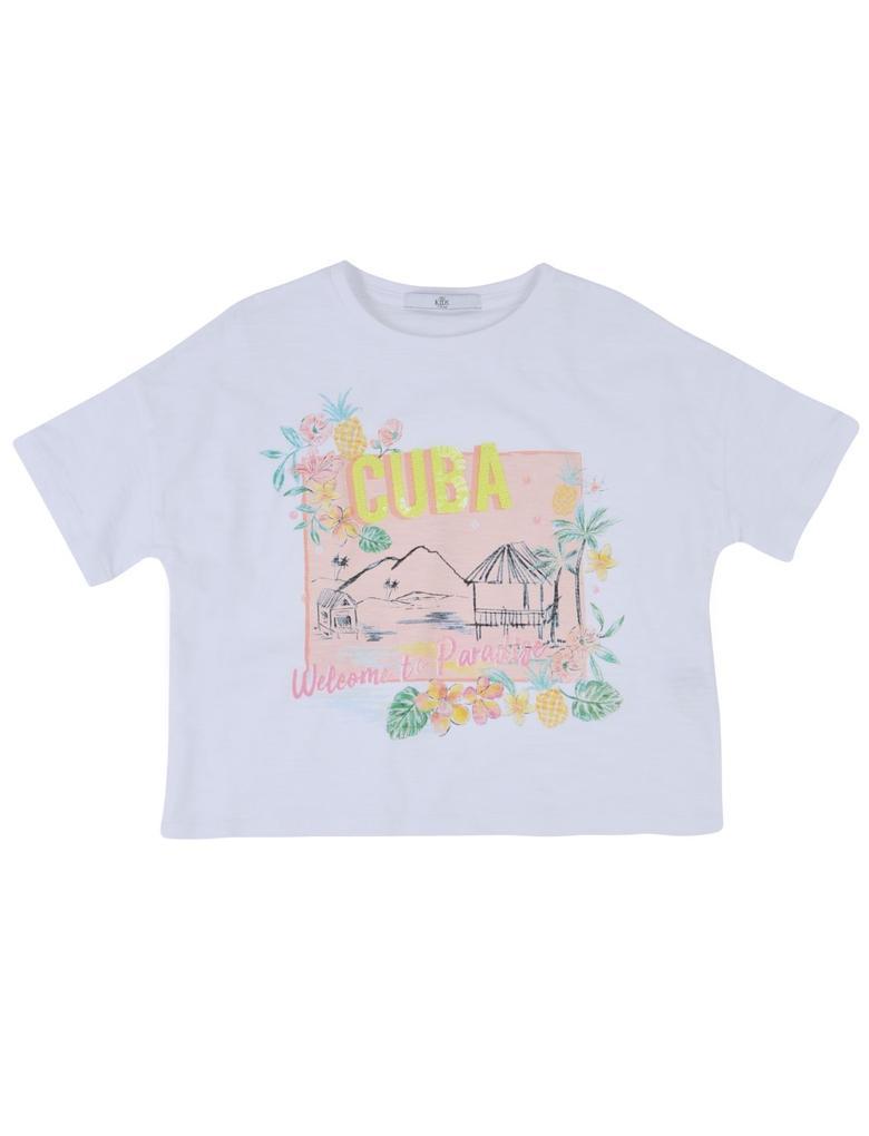 Saf Pamuklu Cuba T-Shirt