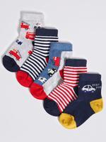Freshfeet ™ Teknolojili Desenli 5 Çift Çorap