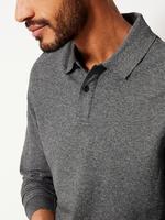 Gri Erkek Saf Pamuklu Polo Yaka T-Shirt