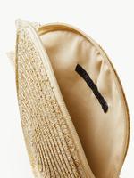 Kadın Metalik Hasır Çapraz Çanta