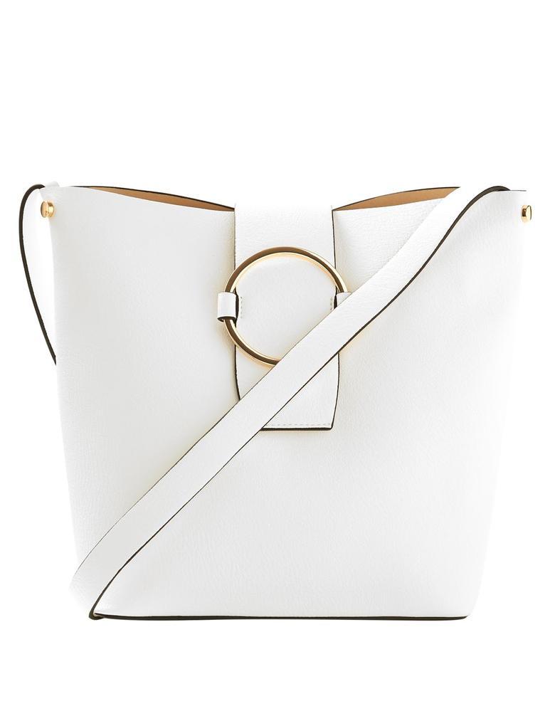 Deri Görünümlü Bucket Çanta
