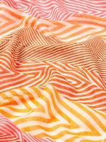 Turuncu Çizgi Desenli Şal