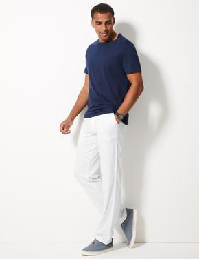 Keten Karışımlı Pantolon