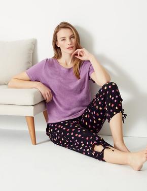 Kısa Kollu Pijama Üstü