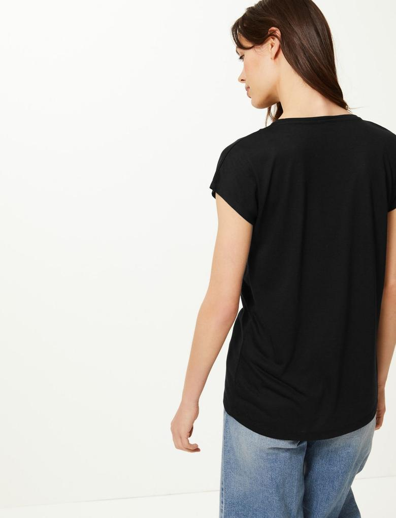 Yuvarlak Yaka Relaxed Fit T-Shirt