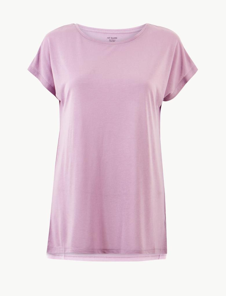 Yuvarlak Yaka Relaxed Fit T-Shirt
