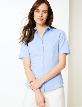 Mavi Kısa Kollu Gömlek